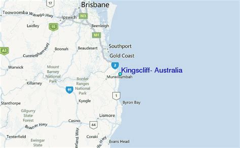 regional map local map detailed map kingscliff australia tide station location guide