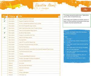 vacation checklist template vacation checklist packing list best 20 packing list