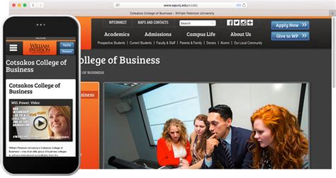 Uiversity Of Mobile Mba by Navigating Business School Websites Meet Content