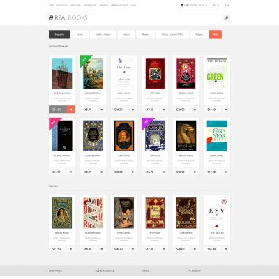 bootstrap templates for books book store opencart template 38889