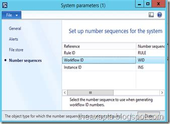workflow system administrator a number sequence must be specified before you can create