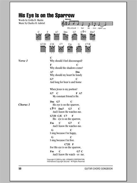 printable lyrics to his eye is on the sparrow mahalia jackson his eye is on the sparrow lyrics