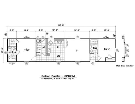 mobile home floor plans 1 bedroom bath mobile home floor