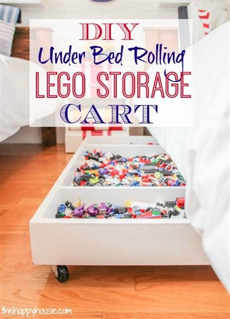 how to make a lego bed diy under bed rolling lego storage cart pinterest