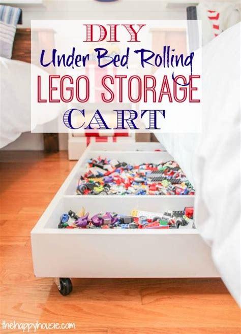 diy  bed rolling lego storage cart pinterest