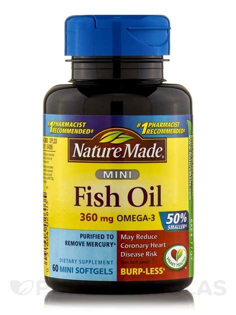 fish 500 mg omega 3 360 mg mini 60 softgels