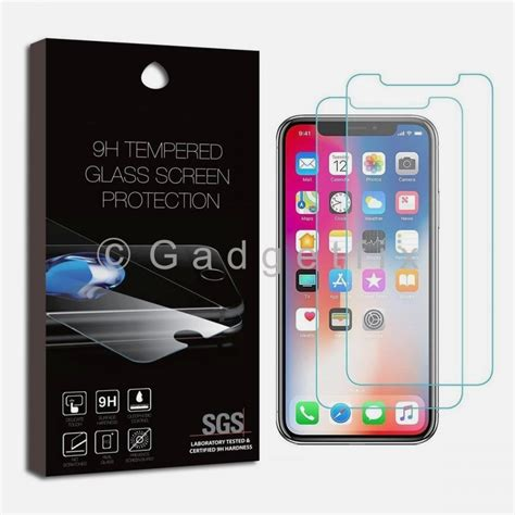 lot 10 x iphone xs max 9h premium tempered glass lcd screen protector guard 351309851845
