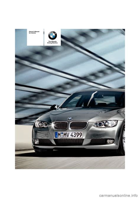 bmw owner bmw 335i coupe 2007 e92 owner s manual