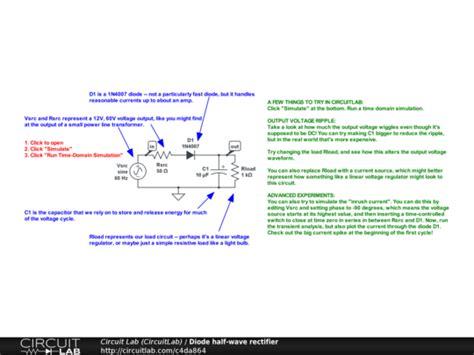 open diode in bridge rectifier diode half wave rectifier circuitlab