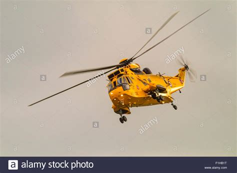 Airforce Search Royal Air Search And Rescue Sea King Har3a Helicopter Of Stock Photo