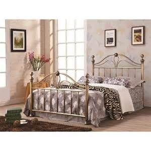 iron beds and headboards iron king bed with antique gold