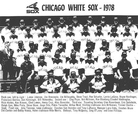 thedeadballera 1978 chicago white sox team photo