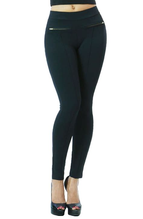 are leggings comfortable zipper design stretchy and comfortable fashion leggings