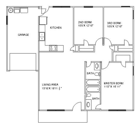 one storey residential floor plan this is garage plans one story shed build