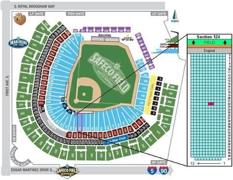 row of seats synonym image gallery mariners seating chart