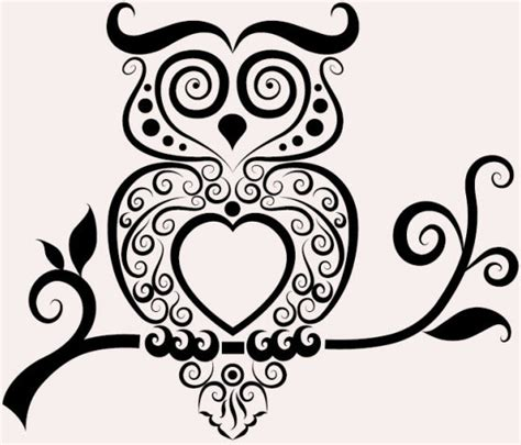 black and white owl pattern svg owl free vector download 85 208 free vector for