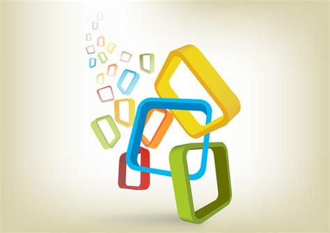 design image vector colorful frames background design free vector