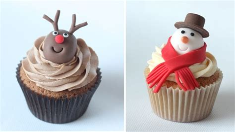 novelty christmas cupcakes www littlepartyboutique co uk