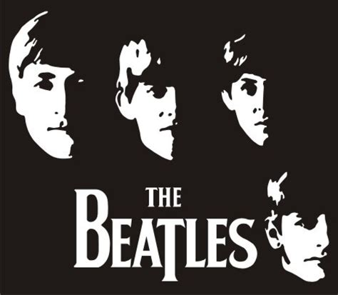 Kaos The Beatles Logo Stencil stickers beatles imagui