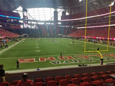 section 8 football mercedes benz stadium section 120 atlanta falcons
