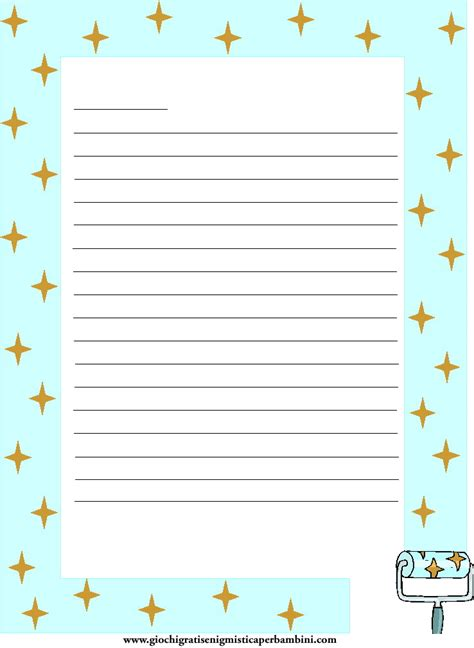 carta lettere carta da lettere con tante stelle