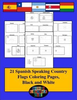 printable flags of the world black and white spanish speaking color by number country flags spanish