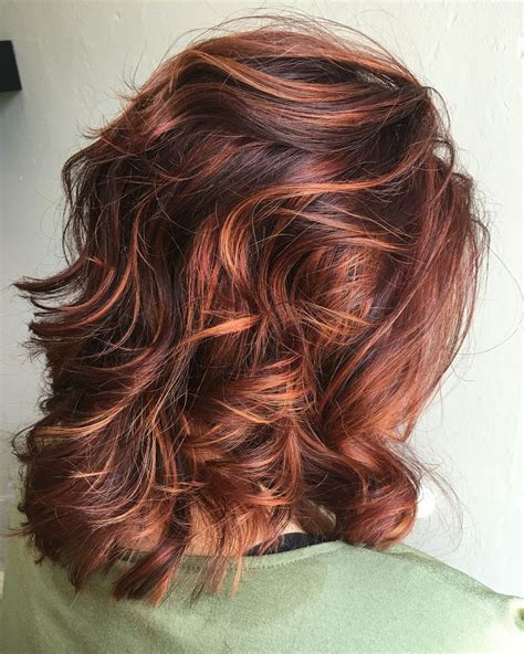 Copper Hair With White Tuff Styles | rv base with copper orange highlights color curlz and