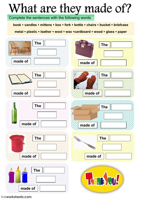what are they made of interactive worksheet