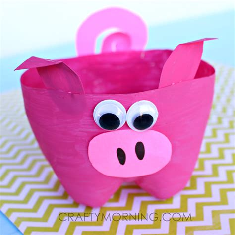 pig crafts for 2 liter bottle pig craft for to make crafty morning