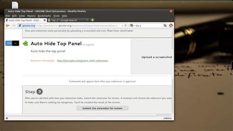 gnome top bar gnome shell autohide top bar disponibile per gnome 3 4