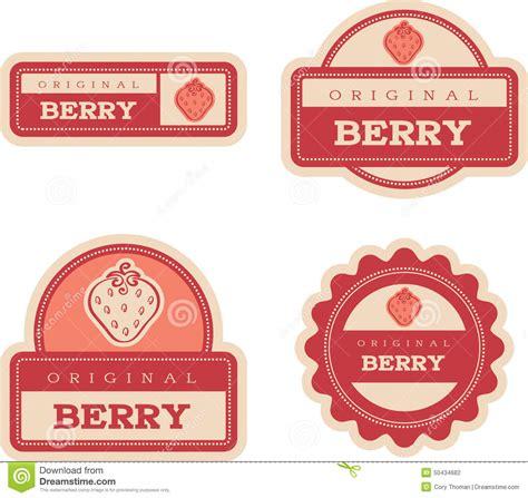 Label Segi 4 Motif Strawberry Pink strawberry vintage food labels stock vector image 50434682