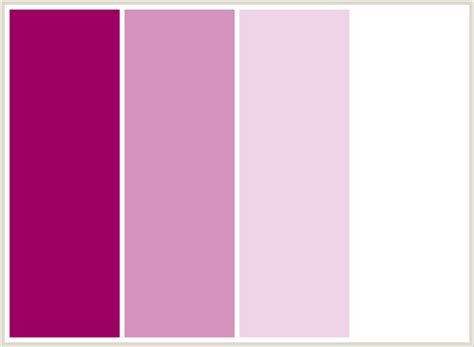 what colors go with pink colorcombo119 with hex colors 9c0063 d693bd efd3e7 ffffff