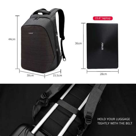 Ransel Anti Maling Usb tigernu tas ransel backpack anti maling dengan usb port