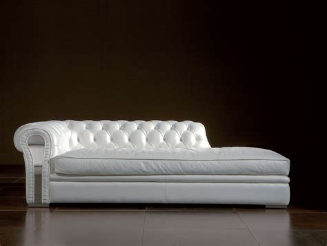 long chaise sofa long white leather sofa chaise lounge with puffed