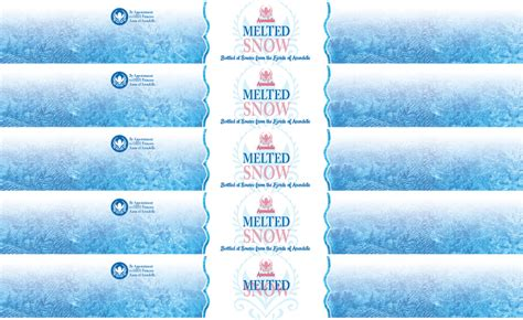 Melted Snow Labels Free
