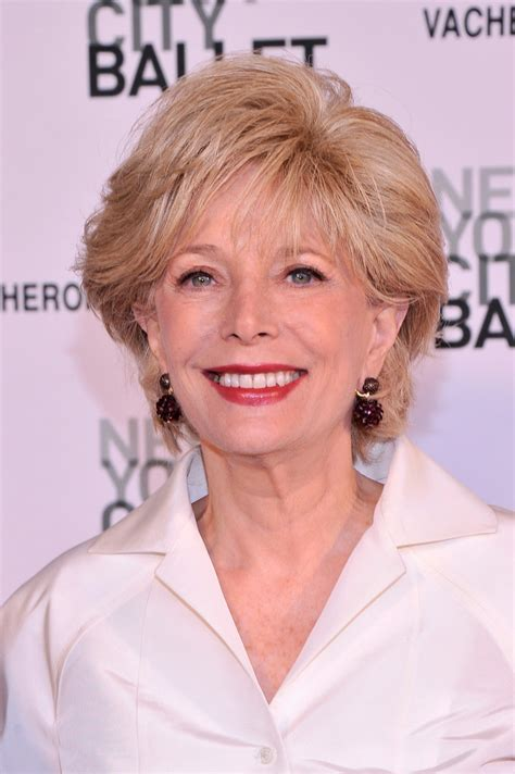is leslie stahl s hair a wig lesley stahl in arrivals at the nyc ballet s spring gala
