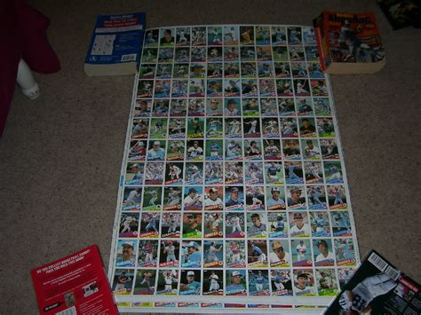 Free Gift Cards Without Completing Offers - 1985 topps baseball cards complete uncut sheet set ex condition baseball