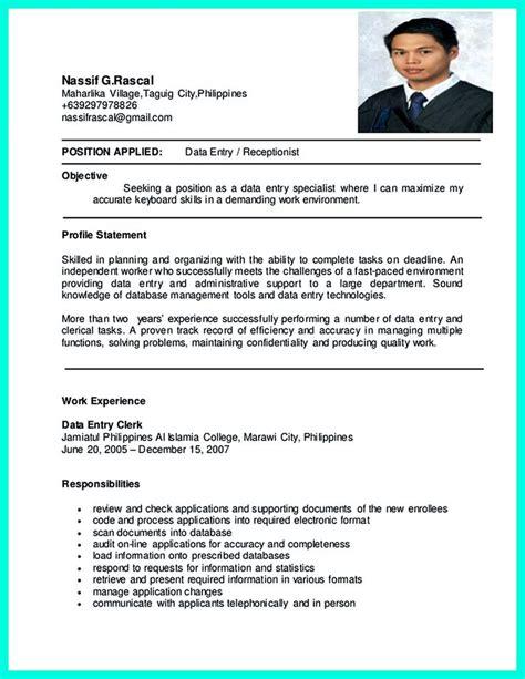 resume data entry clerk ceciliaekici com