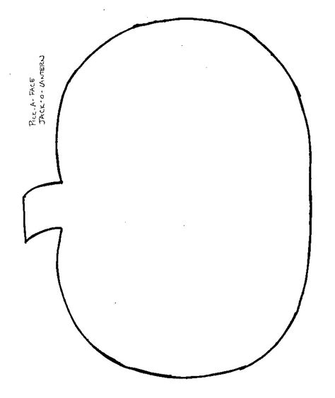 printable pumpkin template blank pumpkin printable images