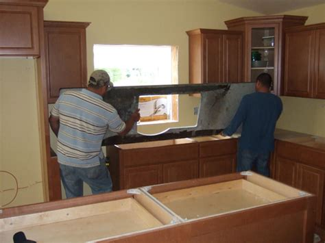 Installing Granite Countertop by Custom Granite Countertops Undermount Sinks Kitchen