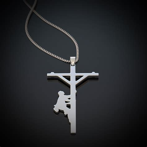 Choker Import Necklace Cross Kalung Handmade Kalung Import lineman cross necklace all things through shineon