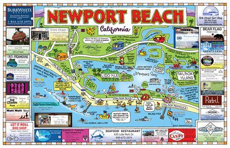 newport beach california map california map