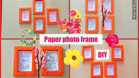 How To Make Paper Photo Frame - how to make paper frame photo frame diy wall