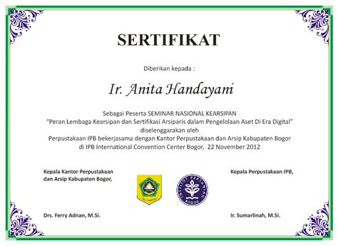 cara membuat sertifikat s personal