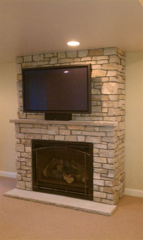 Home Stones Decoration Deco by Stone Fireplace With Tv Above Ideas