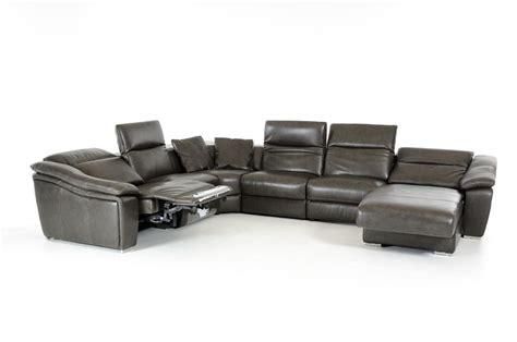 dark grey sectional divani casa jasper modern dark grey leather sectional sofa