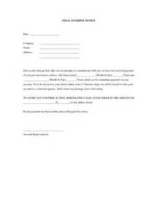 balance due letter template best photos of overdue account letters exles