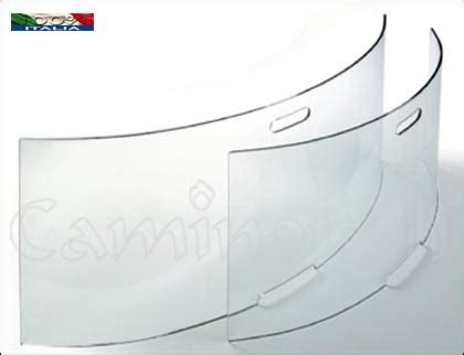 vetro temperato per camini parascintille temperato p137m in vetro cristallo