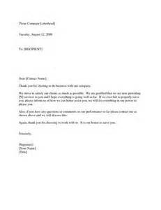 thank you letters to clients for their business letter