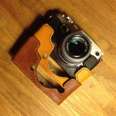 olympus cases kenji leather half for olympus pen f